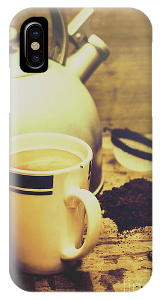 Ceremony iPhone Case - Retro Kettle With The Mug Of Tea by Jorgo Photography - Wall Art Gallery