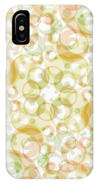 Retro Pattern In Light Earth Tones On White  IPhone Case