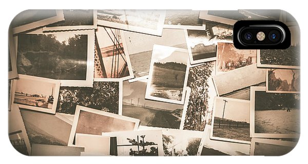 20th iPhone Case - Retro Photo Album Background by Jorgo Photography - Wall Art Gallery