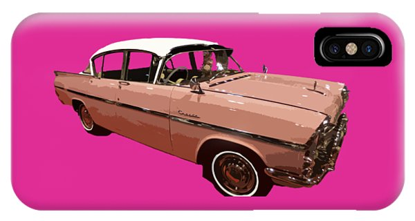Retro Pink Car Art IPhone Case