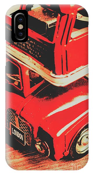 Greater London iPhone Case - Retro Red Britain by Jorgo Photography - Wall Art Gallery