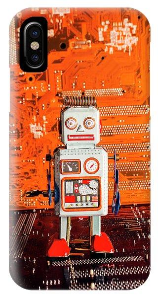 Technology iPhone Case - Retro Robotic Nostalgia by Jorgo Photography - Wall Art Gallery