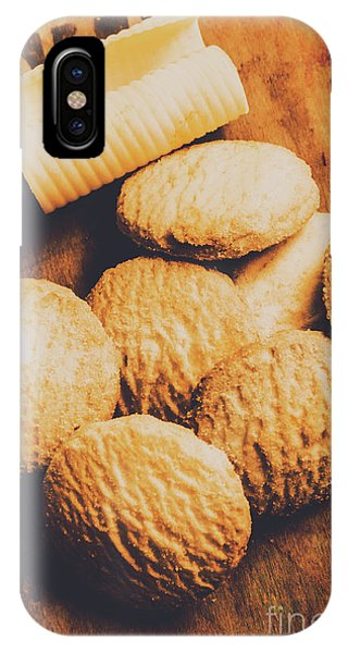 Retro Shortbread Biscuits In Old Kitchen IPhone Case