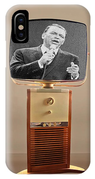 Retro Sinatra On Tv IPhone Case