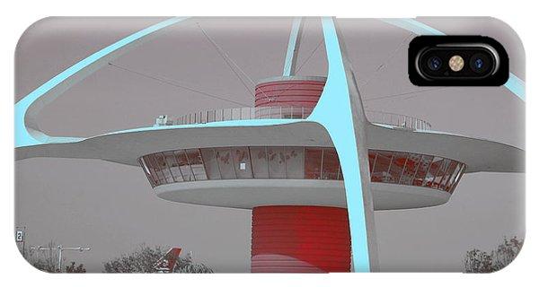 Retro Spaceship Aka La Airport IPhone Case