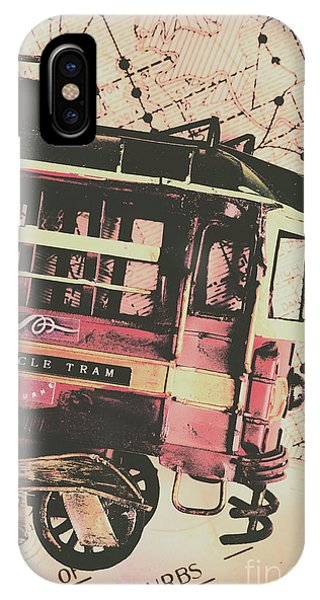 Passenger Train iPhone Case - Retro Streets And Urban Trams by Jorgo Photography - Wall Art Gallery