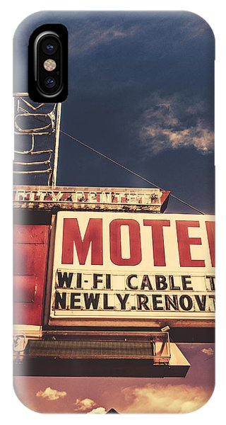 1950s iPhone Case - Retro Vintage Motel Sign by Mr Doomits