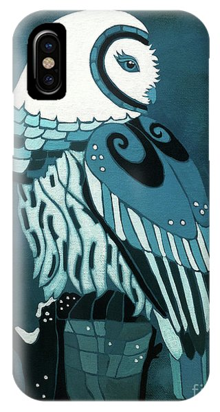 Retrospect In The Moonlight Owl IPhone Case