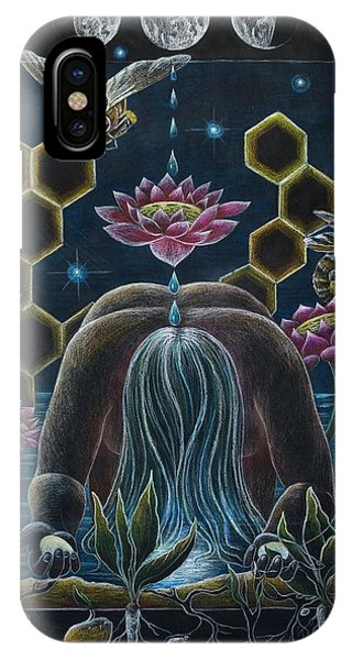 Honeybee iPhone X Case - Reverence  Connection  Protection by Sheri Howe