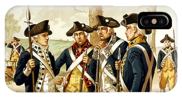 Revolutionary War Infantry IPhone Case