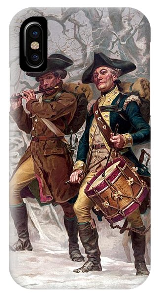 Revolutionary War Soldiers Marching IPhone Case