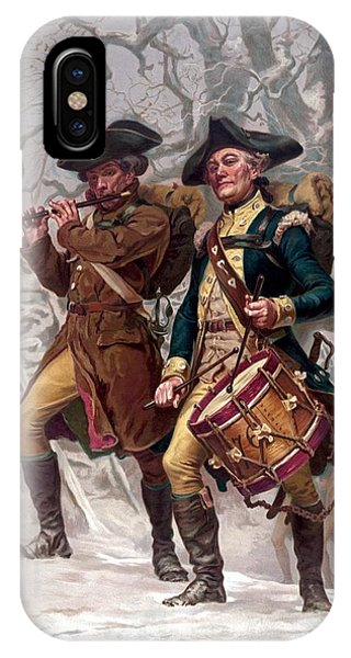Patriot iPhone Case - Revolutionary War Soldiers Marching by War Is Hell Store