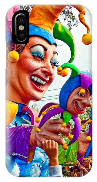 Steve Harrington iPhone Case - Rex Mardi Gras Parade Xi by Steve Harrington