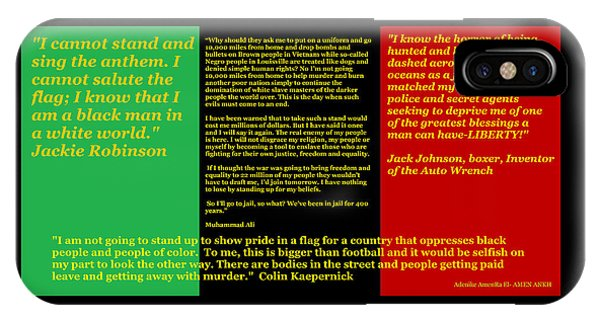 Colin Kaepernick Rbg IPhone Case