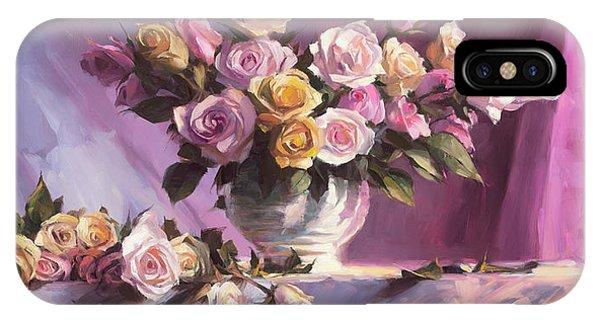 Peach iPhone Case - Rhapsody Of Roses by Steve Henderson
