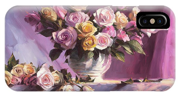 Lavender iPhone Case - Rhapsody Of Roses by Steve Henderson
