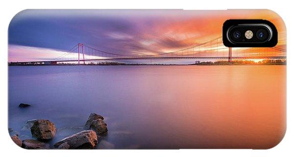 Rhine Bridge Sunset IPhone Case