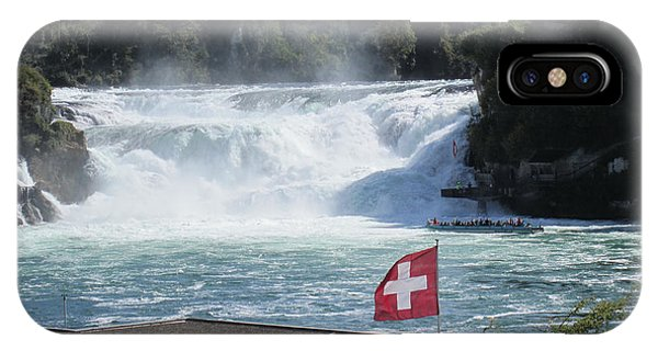 Michel Guntern iPhone Case - Rhine Falls In Switzerland by Travel Pics