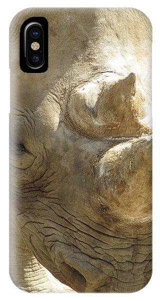 Rhino Closeup Phone Case by George Jones