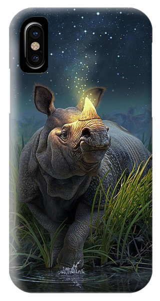 Twilight iPhone Case - Rhinoceros Unicornis by Jerry LoFaro