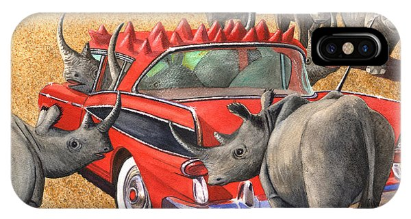 Rhinos Red Rambler IPhone Case