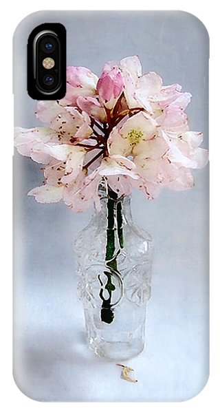 Rhododendron Bloom In A Glass Bottle IPhone Case