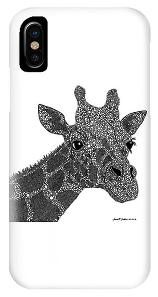 Giraffe iPhone Case - Rhymes With Giraffe by Laura McLendon