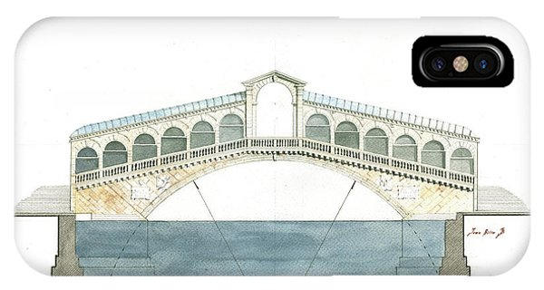 Italy iPhone Case - Rialto Bridge Venice by Juan Bosco