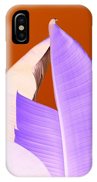 Ribbed In Violet Phone Case by Florene Welebny