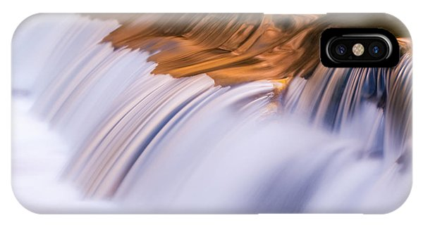 Ribbons Of Blue And Gold IPhone Case