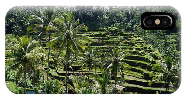 Tropes iPhone Case - Rice Terrace Bali by Timea Mazug