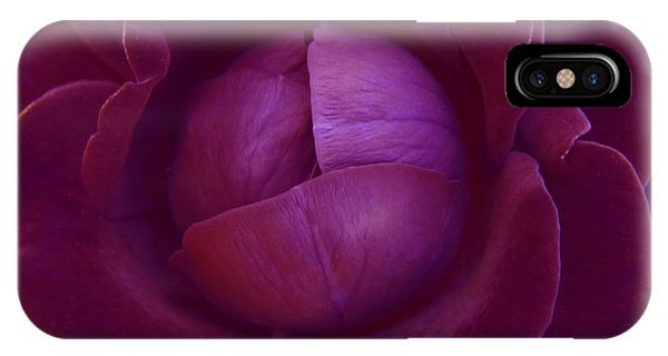 Rich Purple Lettuce Rose IPhone Case