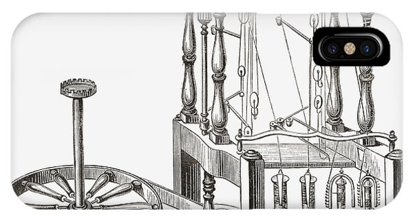 Richard Arkwright S Water Frame. From Drawing by Vintage Design Pics