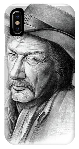 Sketch iPhone Case - Richard Boone 3 by Greg Joens