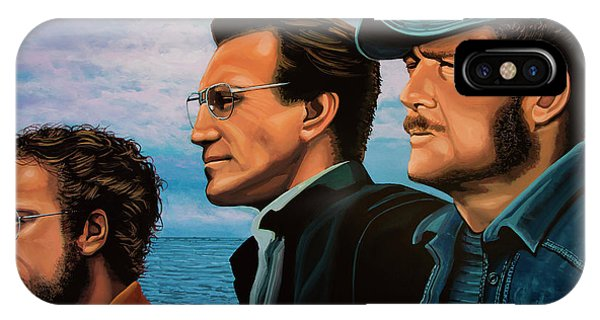 Sharks iPhone Case - Jaws With Richard Dreyfuss, Roy Scheider And Robert Shaw by Paul Meijering