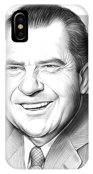 United States Presidents iPhone Case - Richard Nixon by Greg Joens