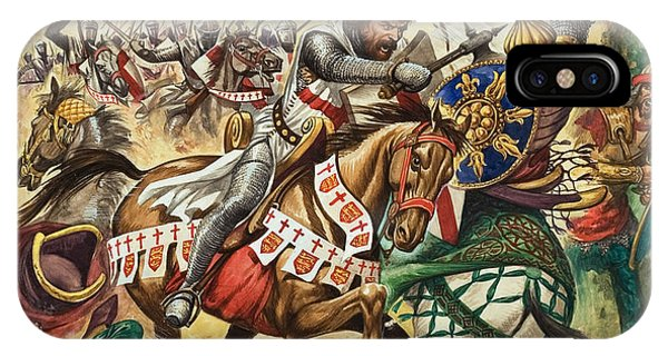 Bravery iPhone Case - Richard The Lionheart During The Crusades by Peter Jackson