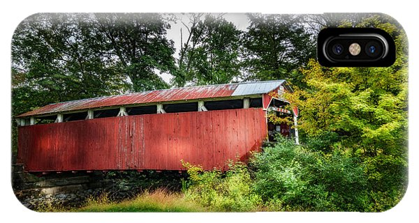 Covered Bridge iPhone Case - Richards Covered Bridge by Marvin Spates