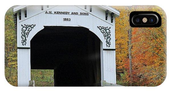 Richland-plummer Creek Covered Bridge, Indiana IPhone Case