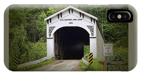 Richland Plummer Creek Covered Bridge IPhone Case