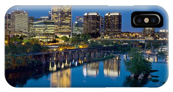Richmond Skyline Helo Trail IPhone Case