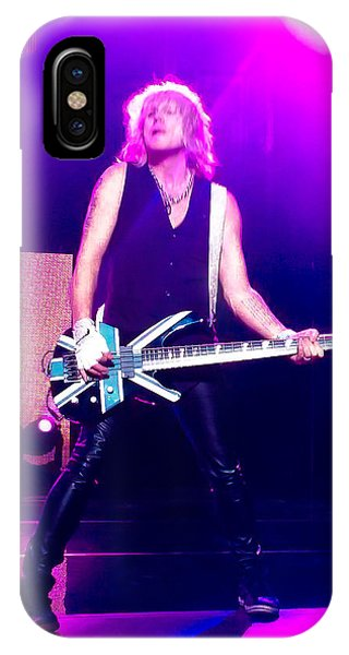 Def Leppard iPhone Case - Rick Savage Of Def Leppard by David Patterson