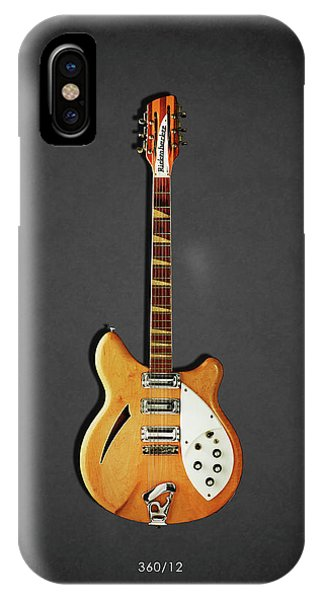 Electric Guitar iPhone Case - Rickenbacker 360 12 1964 by Mark Rogan