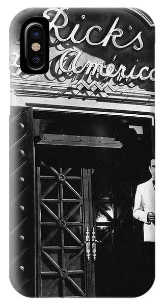 Ricks Cafe Americain Casablanca 1942 IPhone Case