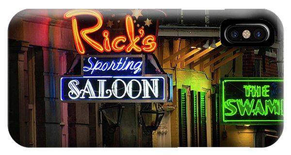 Ricks Sporting Saloon IPhone Case