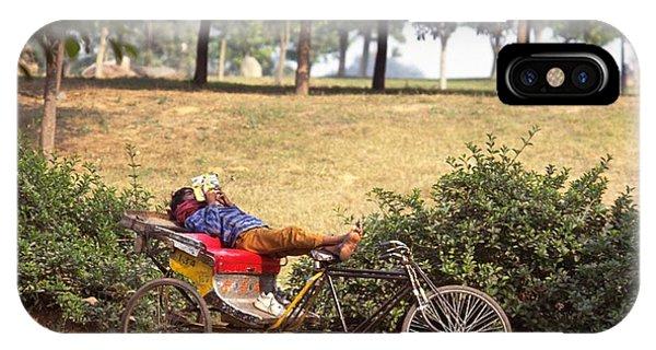 Rickshaw Rider Relaxing IPhone Case