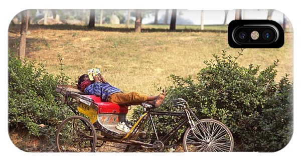 Rickshaw Rider Relaxing IPhone Case