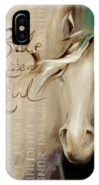 Ride Like A Girl 16x20 IPhone Case