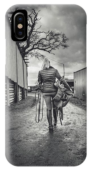 Equine iPhone Case - Ride Time by Samuel Whitton