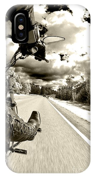 Harley iPhone Case - Ride To Live by Micah May